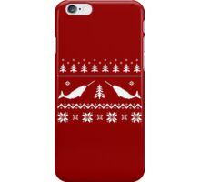 Ugly Narwhal Christmas Sweater iPhone Case/Skin