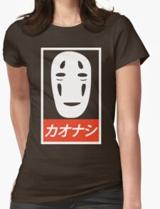 No Face - Spirited Away // Obey Parody Womens Fitted T-Shirt