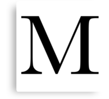The Letter 'M' Canvas Print