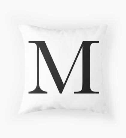 The Letter 'M' Throw Pillow
