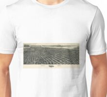 Vintage Pictorial Map of Tulsa (1918) Unisex T-Shirt
