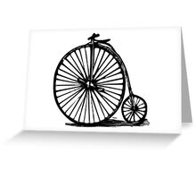 Velocipede, Penny-farthing, bicycle Greeting Card