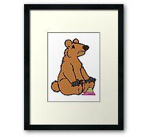 Sad Bear is sad Framed Print