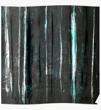 abstract  grey stripes Poster