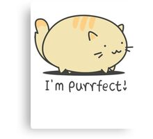 I'm Purrfect! - Funny T-Shirts - OCD Canvas Print