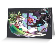 City Dragon VS Nature Dragon Greeting Card