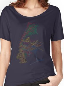 Typographic New York City Subway Women's Relaxed Fit T-Shirt