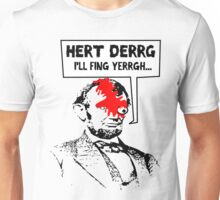 Popular Television Show Humor- Abraham Lincoln vs. Negan Unisex T-Shirt