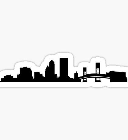 Jacksonville skyline Sticker