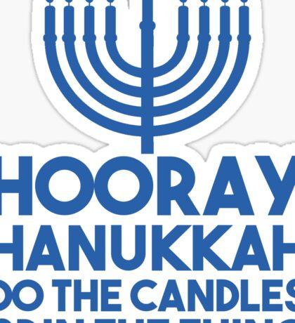 Hooray Hanukkah Sticker