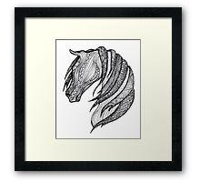Zentangle Patterned Horse Framed Print