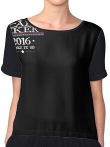 """""""Picard Riker"""" 2016 - """"Make it so"""" Parody Election T-shirt Chiffon Top"""
