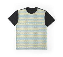 Winter Pattern Blue-Gray & Green Graphic T-Shirt