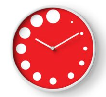 Red Painter's Palette Clock