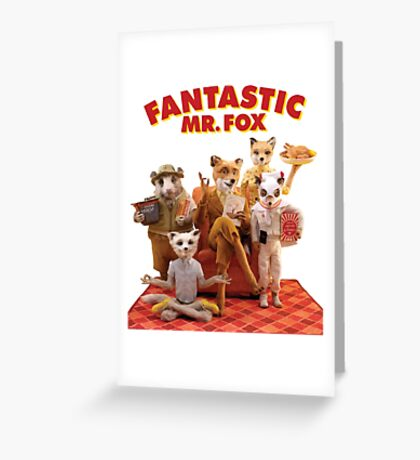 Fantastic Mr. Fox Family Greeting Card