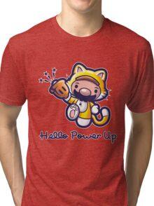 Hello Power Up Tri-blend T-Shirt