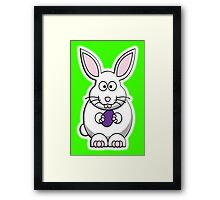 Rabbit, Cartoon, Easter Bunny Framed Print