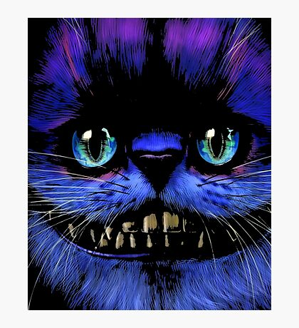 Big Face Cheshire Cat T-Shirt Photographic Print