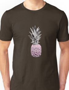 Purple Graphic Pineapple Unisex T-Shirt