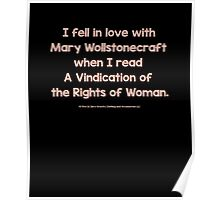 Feminist - I Fell In Love With Mary Wollstonecraft - Brown Poster