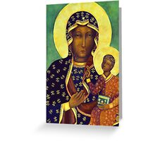 Polish Black Madonna Poland Our Lady of Czestochowa Greeting Card