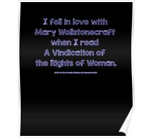 Feminist - I Fell In Love With Mary Wollstonecraft - Blue Poster