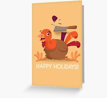 Turkey Day Card Greeting Card
