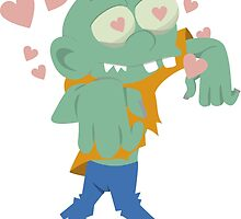 Zombie in love by fairytaleink