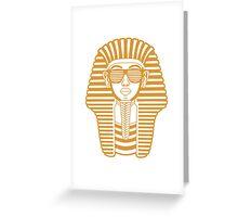 King Tut Egypt Pharaoh Shutter Shades Greeting Card