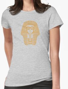 King Tut Egypt Pharaoh Shutter Shades Womens Fitted T-Shirt