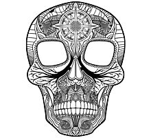 Inked Candy Skull - Journey Photographic Print