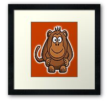 Monkey, Cartoon, Monkey business,  Framed Print