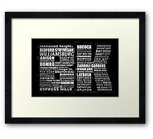 Typographic BK Brooklyn New York Framed Print