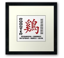 Years of The Chinese Zodiac Rooster Framed Print