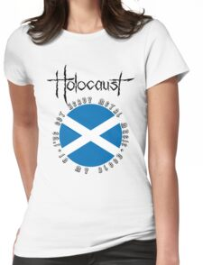 Holocaust - Heavy Metal Mania (Fanmade Merch - black letters) Womens Fitted T-Shirt