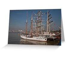 Loth lorien docked at the tall ships festival Greeting Card