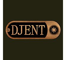 Djent Wood Sign Photographic Print