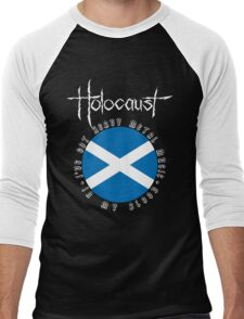 Holocaust - Heavy Metal Mania (Fanmade Merch - white letters) Men's Baseball ¾ T-Shirt