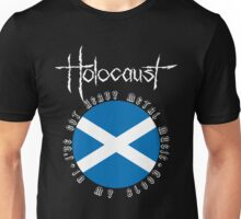 Holocaust - Heavy Metal Mania (Fanmade Merch - white letters) Unisex T-Shirt