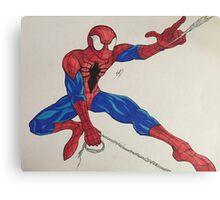 Spider-Man webslinging Canvas Print