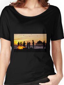Bonfire on the Beach Women's Relaxed Fit T-Shirt