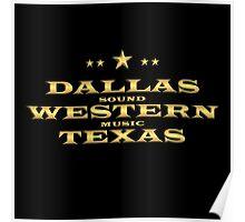 Golden Dallas Western Texas Poster