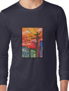 Sunset in Krakow Long Sleeve T-Shirt