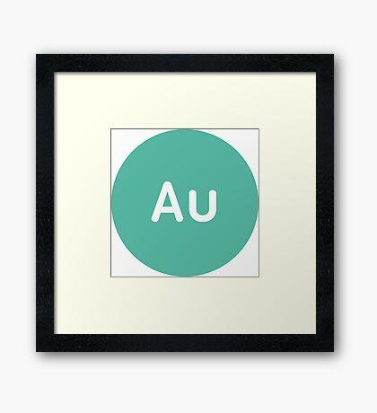Adobe CC Audition Circles Framed Print