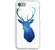 Blue Deer in Space iPhone Case/Skin