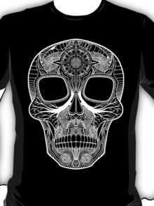 Inked Candy Skull - Journey - White T-Shirt