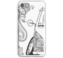 VW Split Screen Camper Van Zinetangle Black & White iPhone Case/Skin