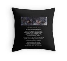 """""""Wolf Eyes"""" The TWO WOLVES CHEROKEE TALE  Throw Pillow"""