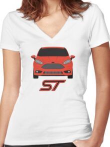 Fiesta ST Women's Fitted V-Neck T-Shirt