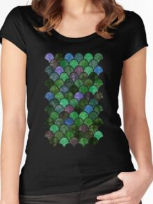 Watercolor Lovely Pattern XIV Women's Fitted Scoop T-Shirt